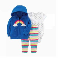 Long Sleeves 3 Pieces Sets Baby Clothing