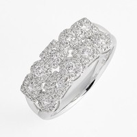 Women's Bony Levy 'Maya' 2-Row Diamond Ring - White Gold (Nordstrom Exclusive)
