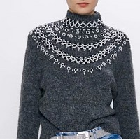 Women's wear is a hit with beaded knits