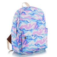 Canvas Stripes Korean Lovely Animal Floral Striped Cute Backpack = 4888033284