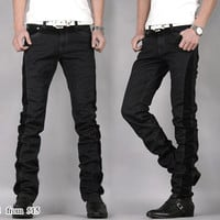 Corduroy Patch Designer Slim Fit Jeans