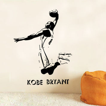 Vinyl Removable Sports Wall Stickers NBA Basketball Player