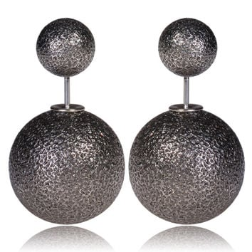 Mise en Gum Tee Style Tribal Earrings  - Shatter Dark Ashe Gray