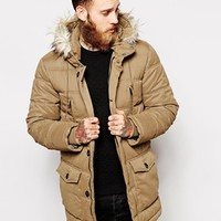 ASOS Quilted Parka Jacket