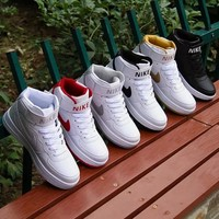 NIKE Women Men Running Sport Casual Shoes Sneakers Air force Hight tops Full color