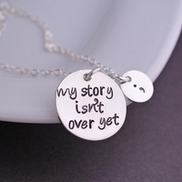 My Story isn't Over Yet Bangle Bracelet, Semicolon Bracelet and Semicolon necklace , Mental Health Awareness Jewelry