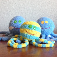 Handcrafted Plush Fuzzy Sock Octopus