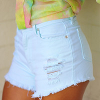Roller Skate Barbie Shorts: Baby Blue | Hope's