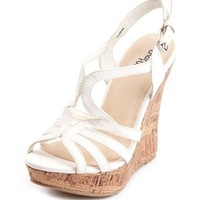 X-Front Slingback Wedge Sandal: Charlotte Russe