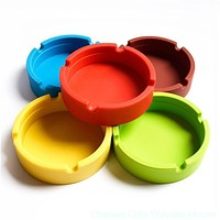 New Men Noctilucent Soft Eco-Friendly Pocket Round Shatterproof Cigar Rubber Silicone Ashtray