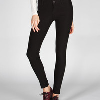 Ymi Womens Highwaisted Skinny Pants Black  In Sizes