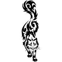 6.1*20CM Car Styling Fashion Funny Cartoon Decals Classic Pet cat Car Sticker Accessories Black/Silver C4-0525