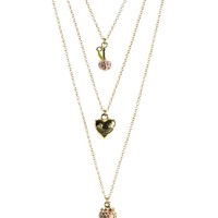 Triple Chain Fruit Necklace by Juicy Couture