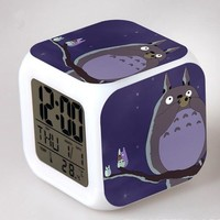 Totoro Digital Anime Alarm Clock V7