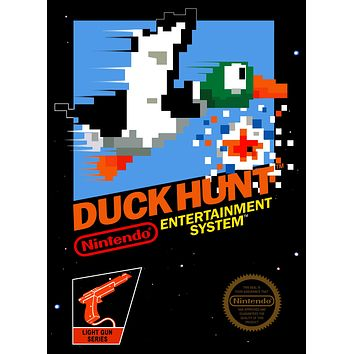 Retro Duck Hunt Game Poster//NES Game Poster//Video Game Poster//Vintage Game Cover Reprint