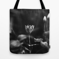 Reaching out - BW Tote Bag by HappyMelvin Protanopia