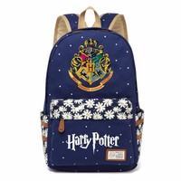 Harry Potter Canvas bag Flowers wave point Rucksacks backpack Girls women Student School Bags travel Shoulder Bag bookbag