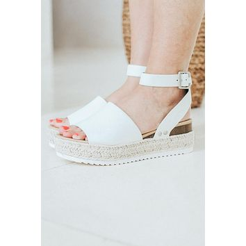 Jute Espadrille with Platform Bottom
