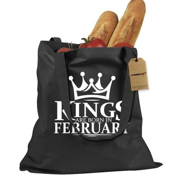 Kings Are Born In February Shopping Tote Bag