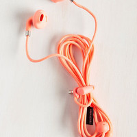 Hear Me Haute Earbuds in Coral | Mod Retro Vintage Electronics | ModCloth.com