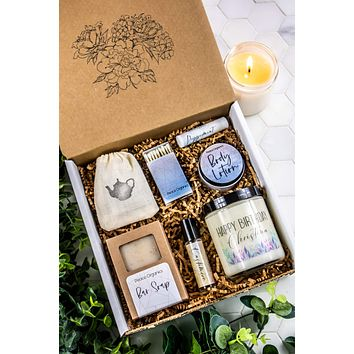 Happy Birthday Spa Gift Box   Personalized with Name
