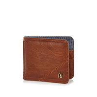 River Island MensBrown foldover branded wallet