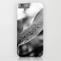 Black and White Wet Leaf iPhone & iPod Case by Pati Designs