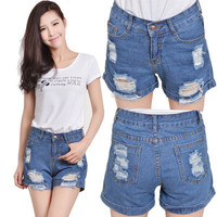 Hot Popular Straight Jeans Shorts Trousers Pants _ 8186
