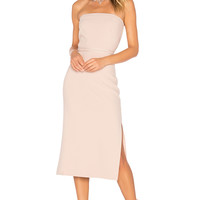 Elizabeth and James Sierra Strapless Dress in Biscuit