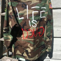 Life is Gucci camo jacket army jacket vintage military jacket