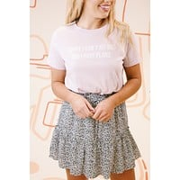 The Very Thought Of You Tiered Mini Animal Print Skirt, White/Black Leopard