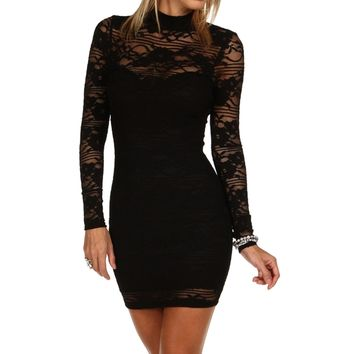 Sale-little Black Lace Dress