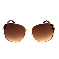 Turn The Lights Out Sunglasses In Gold