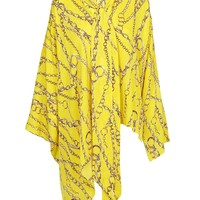 Yellow Oversize Silk Blouse by Balenciaga
