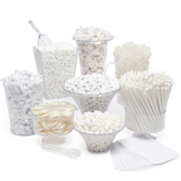 White Candy Buffet Kit: 25 to 50 Guests