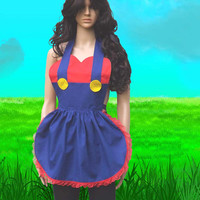 Mario Apron Cosplay Costume Convention Geek Gamer