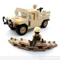 Humvee Army Transport - Lego Compatible
