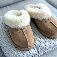 UGG Hot Sale New Style Baotou Slippers Warm and Fluffy Ladies Fashion Fluffy Casual High-quality Slippers Shoes