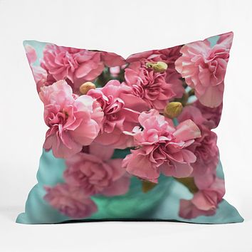 Lisa Argyropoulos Pink Carnations Throw Pillow