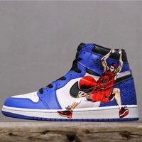 Air Jordan 1 Retro High OG Game Royal With Hanamichi Sakuragi Print - Best Online Sale