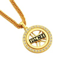 New Arrival Jewelry Gift Stylish Shiny Alloy Ring Necklace [10819552643]