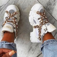 GUCCI Flashtrek sneaker with crystals 5 colors Diamond Shoes Five Color
