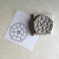 English Rose - Hand-Carved Stamp