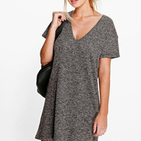 Alison Knitted Short Sleeve T-Shirt Dress