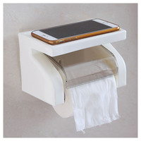 SZS Hot Waterproof Toilet Paper Holder Tissue Roll Stand Box with Shelf Rack Bathroom