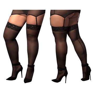Mapale 1094X Mesh Thigh Highs Color Black