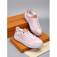 Louis Vuitton LV White Pink Rose/Rouge Time Out Sneaker - Best Deal Online