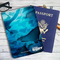 Finding Dory Disney Leather Passport Wallet Case Cover