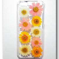 Handmade iPhone 5C case, Resin with Dried Flowers, Pressed flower art (08)