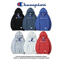Champion Embroidered hooded sweater S-XXL